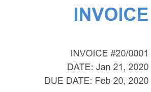 Invoice numbering